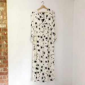 NWT Chaser Star Print Empire Maxi Dress Swim Cover